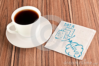 Data in the cloud on a napkin