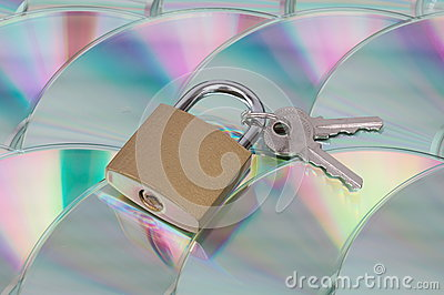 Data encryption and security (CD with lock)