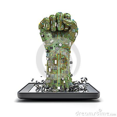 Free Data Fist Tablet Stock Photography - 32604152