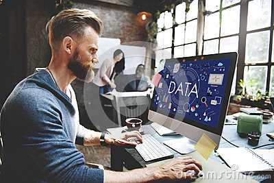 Data Information Statistics Technology Analysis Concept Stock Photo