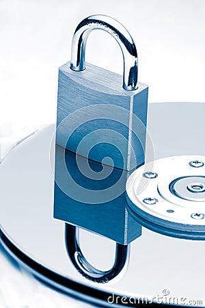 Free Data Protection (Blue Tint) Royalty Free Stock Photo - 274855