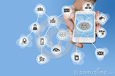Data scientist and big data concept in order to conduct predictive analysis of sensor data coming from IOT devices like car Stock Photo