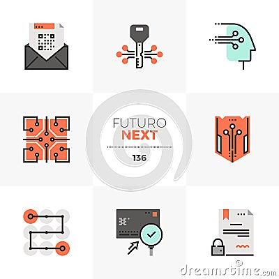Free Data Security Futuro Next Icons Stock Photos - 122198473
