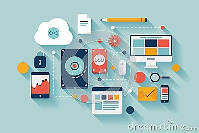 Data storage concept illustration