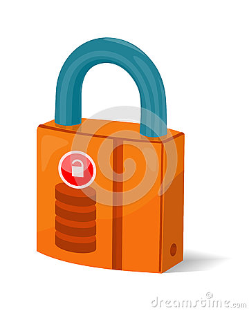 Free Data Storage Sign Symbol Icon. Lock Isolated. Padlock Stock Photography - 78863962