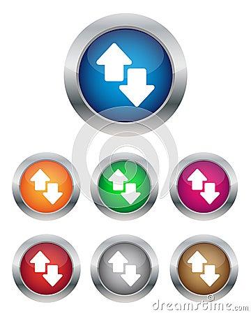 Data transfer buttons