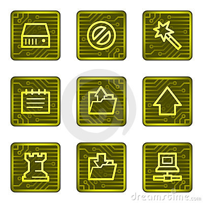 Data web icons, electronics card series