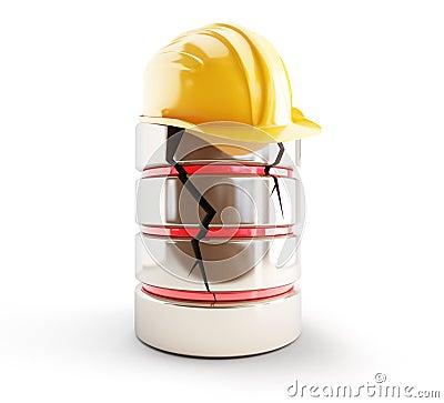 Database broken construction helmet