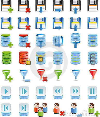 Free Database Details Icon Set Of 42 Icon`s Royalty Free Stock Photography - 8615267
