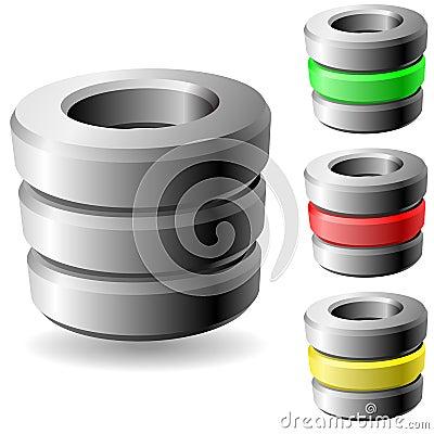Free Database Icon Stock Image - 12265971