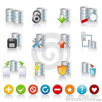 Free Database Icons Royalty Free Stock Photography - 16608817