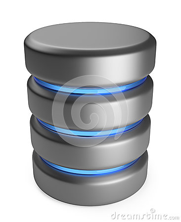 Database. Storage concept. 3D icon isolated