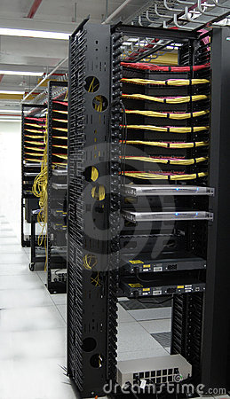 Free Datacenter: KVM Solutions At The Row End Royalty Free Stock Photos - 341558