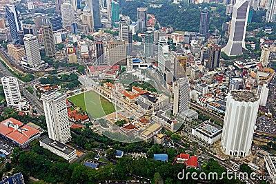 Dataran Merdeka Kuala Lumpur Skyline Aerial View Editorial Image