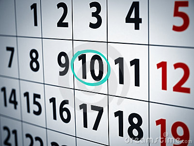 Date on the 10th
