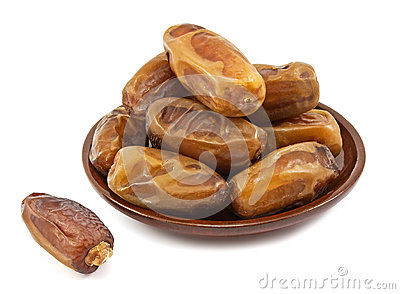 Date fruits in a plate