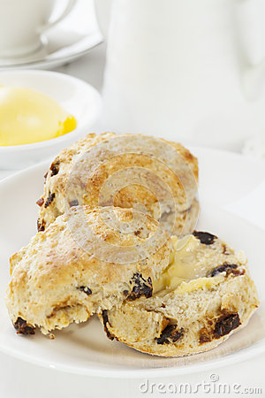 Date Scones with Butter