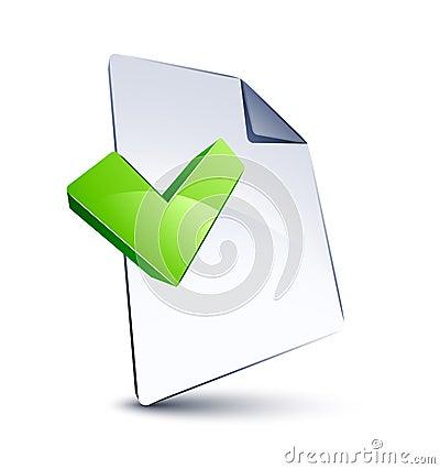 Datei und V-Form