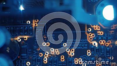 Datenverarbeitung der elektronischen Technik PWB-Plans stock video