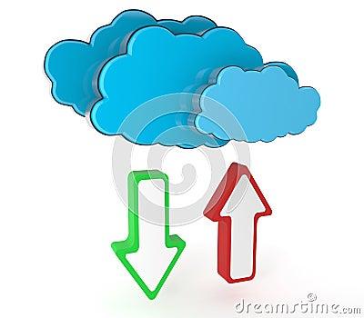 Datenverarbeitungskonzept der Wolke