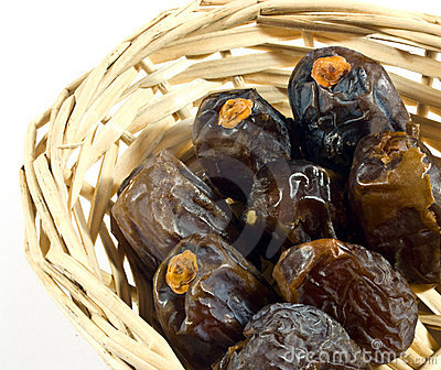 Dates in basket