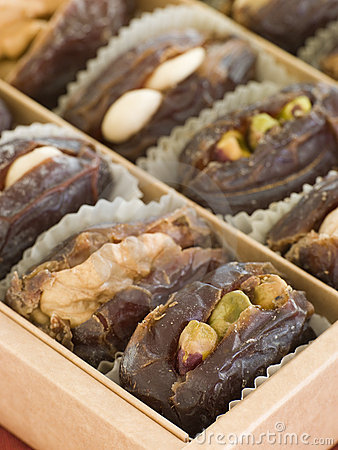 Dates stuffed with Nuts and Marzipan