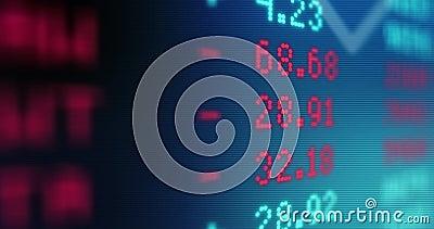 Dati del mercato azionario - valori di borsa - commercio del mercato stock footage
