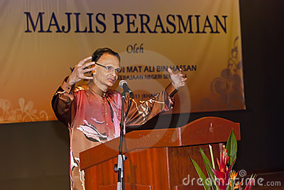 Dato Ibrahim Ismail (Director Museum Malaysia) Editorial Stock Photo