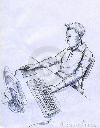 Datoren skissar användaren