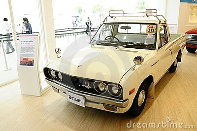 Datsun l620 1300 cc vintage pickup car editorial stock for Nissan motor credit payoff phone number
