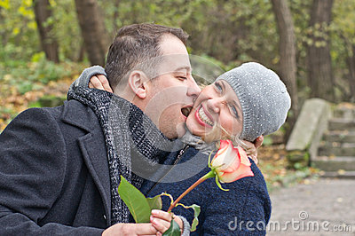 Datum. Gelukkige man en vrouw