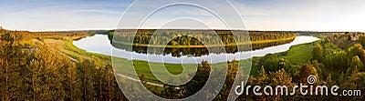 Daugava river aerial