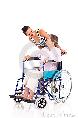 Daughter disabled mother