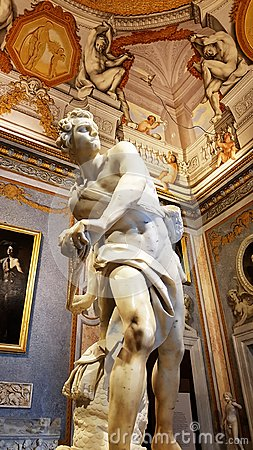 Free David, A Famous Sculpture Of The Borghese Gallery In Rome. Royalty Free Stock Images - 104158089