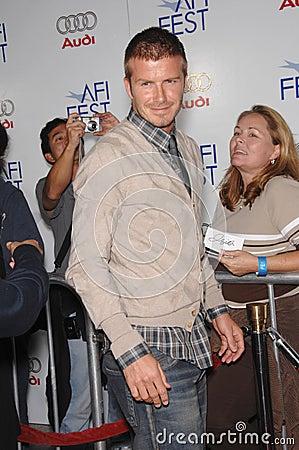 David Beckham Editorial Stock Image