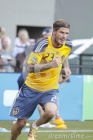 David Beckham running Editorial Stock Image