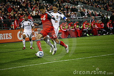 David Beckham TFC vs LA Galaxy MLS Soccer Editorial Image