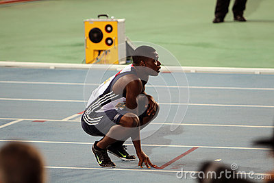 David Bolarinwa after the 200 meters final Editorial Photography