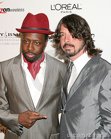 David Grohl, Wyclef Jean Editorial Image