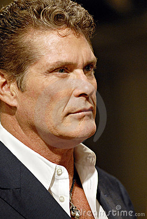 David Hasselhoff appearing live. Editorial Stock Photo