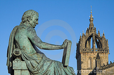 David Hume and St Giles Cathedral, Edinburgh