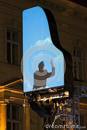 David Moreno performance in Bucharest, Romania Editorial Stock Photo