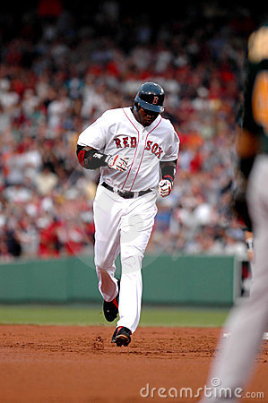 David Ortiz Homerun trot. Editorial Photo