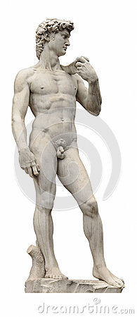 Free David Statue By Ancient Sculptor Michelangelo Isolated On White. Florence, Italy. Stock Photo - 32662430
