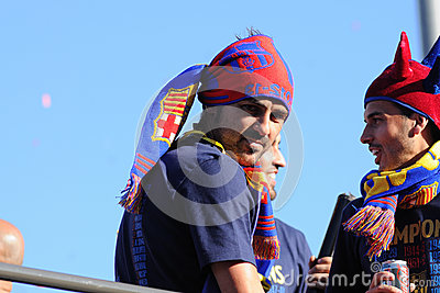 David Villa, Asturian (from Gijon city) player of F.C Barcelona football team Editorial Stock Photo