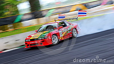 Davide Dorigo drifting at Formula Drift 2010 Editorial Stock Image