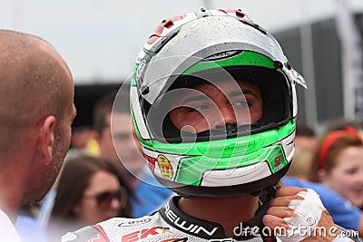 Davide Giuliano - Ducati 1098R - Althea Racing Editorial Stock Image