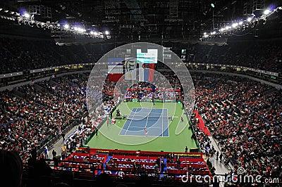 Davis Cup Finals in Belgrade, Serbia Editorial Stock Image