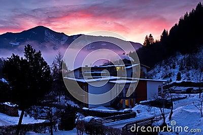 Dawn at the Alps
