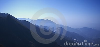 Dawn in Apuan Alps, Carrara, Italy